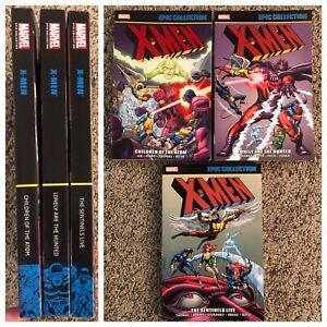 X-Men Epic Collection TPB 1 2 3 Set Children of Atom Sentinels Lonely 66 uncanny