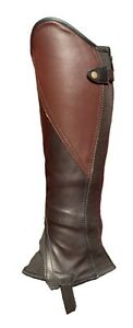 Black and Brown leather Comfort Classic Gaiters / Half Chaps