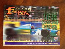 Australian F1 Grand Prix 1995 Fastest Laps - Michael Schumacher Card 2844/5000