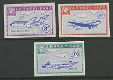 Guernsey SARK 1966 Europa PROOFS MISSING OVPTS errors