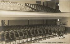 Oneonta NY High School Auditroium c1910 Real Photo Postcard #9 EXC COND