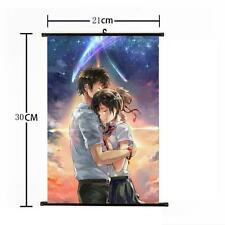 """Hot Japan Anime Your Name Poster Wall Scroll Home Decor 8""""×12"""" 08"""