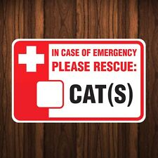 Cat Sticker- PLEASE RESCUE CATS Kitten Pet Home House Safety Outdoor Vinyl Decal