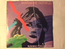 """MARIANNE FAITHFULL Running for our lives 7"""" ITALY COME NUOVO VERY RARE LIKE NEW!"""