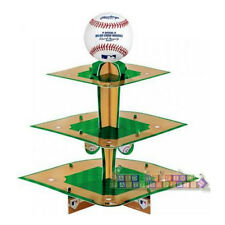 MLB BASEBALL 3-TIERED CUPCAKE STAND ~Birthday Party Supplies Sports Holder Treat