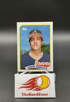 John Smoltz 1989 Topps Base RC #382 Atlanta Braves, Low Population, HOF Rookie