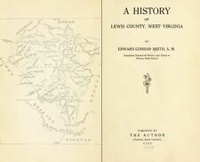 1920 LEWIS County West Virginia, WV, History & Genealogy Family Tree DVD CD B19