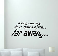Star Wars Wall Decal A Long Time Ago Movie Vinyl Sticker Art Decor Mural 164crt