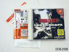 Biohazard 3 Last Escape Resident Evil Dreamcast Japanese Import DC US Seller B