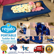 Portable Cot Foldable Toddler Kids Camping Bed Stretcher Camp Mat with Carry Bag