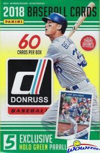 2018 Donruss Baseball HUGE Factory Sealed 60 Card HANGER Box-HOLO GREEN PARALLEL