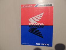 Werkstatthandbuch - Nachtrag Honda CB 1000  Modelljahr 1995