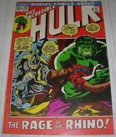 INCREDIBLE HULK #157 (Marvel Comics 1972) RHINO appearance (FN-)