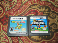 Nintendo DS Game Lot New Super Mario DS & Yoshi's Island Lot 2 Games Authentic