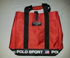 Vintage 90s Polo Sport Tote Bag Purse Ralph Lauren Red