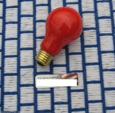Box of 12 } RED 25w opaque PARTY & sign 25A19 LIGHT BULB 25 watt ceramic A19 NEW