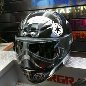 Tie Fighter Custom Painted Airbrushed Motorcycle Helmet
