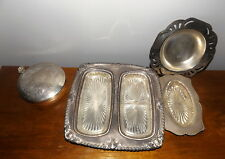 Collection of EPNS A1 Silver Plate & Depression Glass Dishes Art Deco
