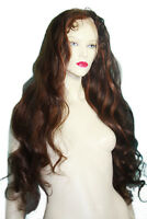 HUMAN HAIR Remi Remy Indian Full Lace Wig #2/30 Wavy Bodywave Brown Red Mix