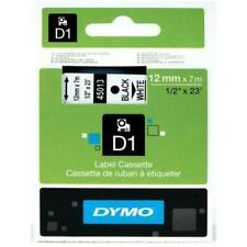 DYMO D1 12x7mm Cassette de Ruban à Étiqueter - Noir sur Blanc (S0720530)
