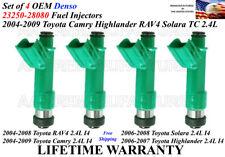 Set of 4 Genuine Denso Fuel Injector For 2006-2007 Toyota Highlander 2.4L I4