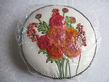 MacKenzie Childs MERRIFIELD ROUND Silk Flower PILLOW