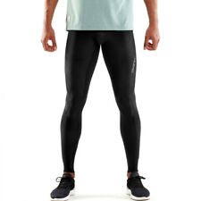 Skins Mens DNAmic Compression Long Tights Bottoms Pants Trousers Black Sports