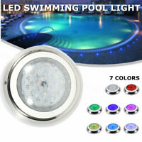 54W Swimming Pool Light Color-change LED RGB Stainless Steel IP68+Controller USA
