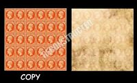 FRANCE 1853 40C  NAPOLEON HEAD SHEET RECONSTRUCTED OF 30, COPY