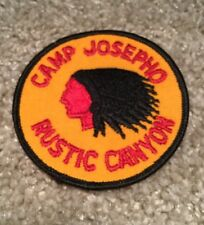 BSA Vintage Patch Camp Josepho Rustic Canyon