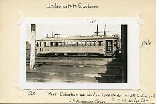 U432 RP 1930/40s INDIANA RAILROAD SYSTEM SUBURBAN CAR #201 ANDERSON IN SHOPS
