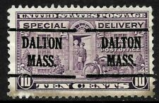 """Double Dalton MASS"" Precancel SON 10 Cent Special Delivery BOB 9B61"