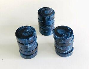 15 31mm  Marbleized Blue Moon Backgammon Checkers