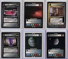 STAR TREK CCG CARDS - LOT M - 150+ CARDS SOME DUPLICATE CARDS