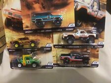 HOT WHEELS DESERT RALLY. 5 CAR SET WITH REAL RIDERS