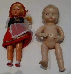Two vintage hard plastic dolls