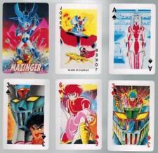 BOX MAZZO CARTE GIOCO POKER CARDS MANGA ROBOT GO NAGAI-GRANDE MAZINGA Z MAZINGER