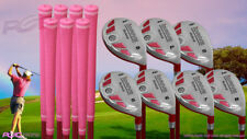 Petite Senior Women's iDrive Golf Clubs Pink Hybrid (5-SW) Set, SENIOR Flex