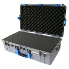 Silver with Blue Pelican 1605 Air case With Foam