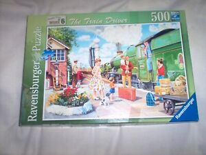 500 PIECE RAVENSBURGER JIGSAW PUZZLE THE TRAIN DRIVER
