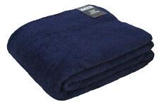 "Extra Large Bath Sheet Towel 60"" x 80"" Luxury Turkish Cotton 600gsm Navy Blue"