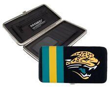 Jacksonville Jaguars NFL Team Logo Hard Shell Mesh Wallet