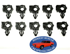 "Ford 1/4"" ID 3/8"" OD Engine Wiring Harness Loom Routing Clamp Clip 10pcs SS"