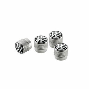 Ventilkappen mit geprägtem Volkswagen Logo, für Gummi-/Metallventile