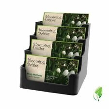 deflect-o Recycled Business Card Holder, Holds 150 Cards, Four-Pocket, Black