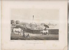 6 CIRCA 1856-57 LITHOGRAPHS - COMMODORE PERRY'S EXPEDITION TO JAPAN 1853-54