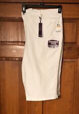 NEW Womens Gloria Vanderbilt Amanda Heritage  Skimmer Capris/Shorts  24W White.
