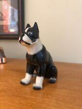 Vintage Ceramic Boston Terrier Dog Figurine c1960s 3.5� Japan Great Expression