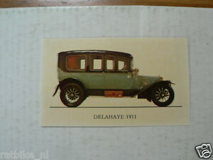JUBILE NO 068 DELAHAYE 1911 VINTAGE CAR ALBUM CARD,ALBUM PLAATJE