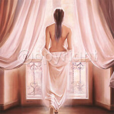 Chekirov: Morning in Paris Frau Fertig-Bild 70x70 Wandbild